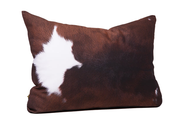 Brown + White Cowhide