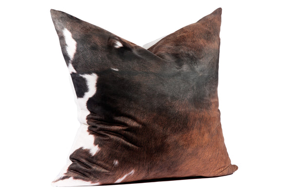 Brown + White Cowhide | Faux Suede