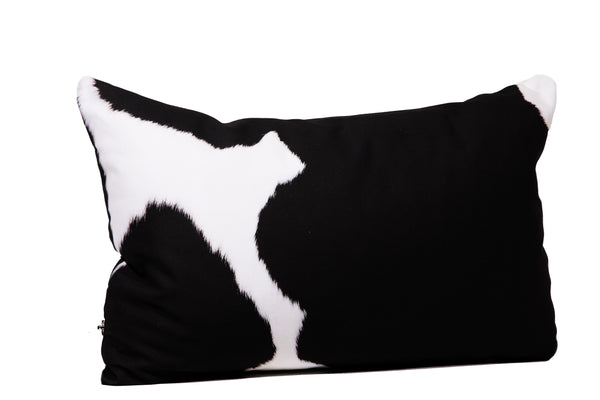 Black + White Cowhide