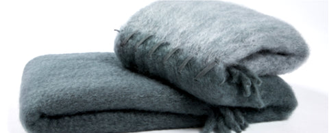 Cool Blue | Suede Stitching | Blanket