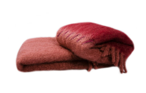 Red | Suede Stitching | Blanket
