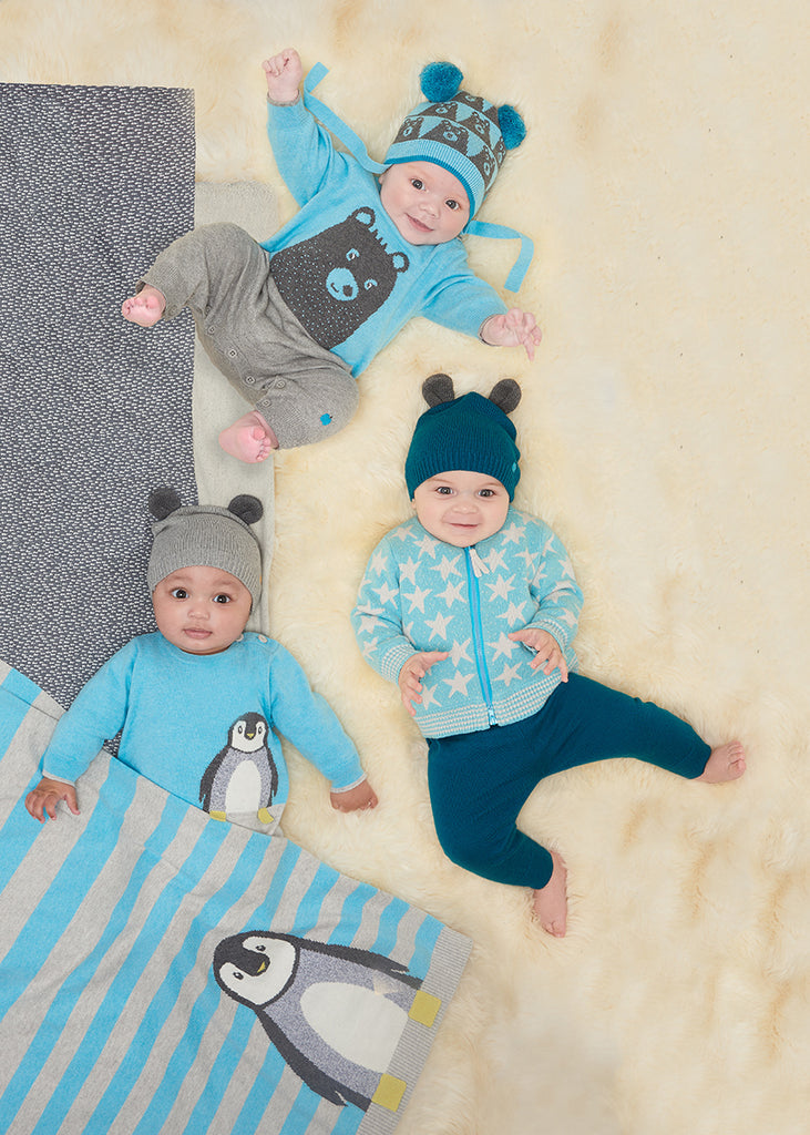 The Bonnie Mob Babies on the floor | Cool Baby Clothes | Funky Baby Clothes | Crab and The Fox