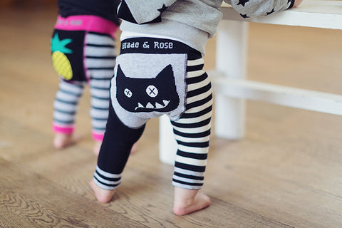 Crazy Cat Funky Baby Leggings