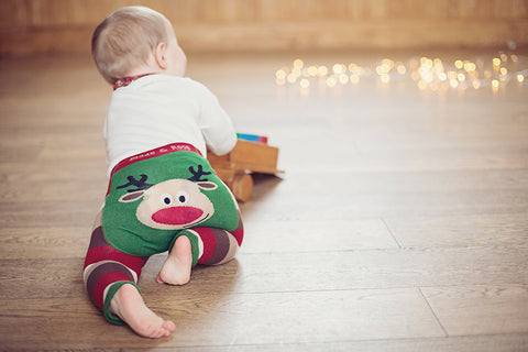 Rudolph Baby Leggings | Funky Baby Leggings | Christmas Baby Leggings