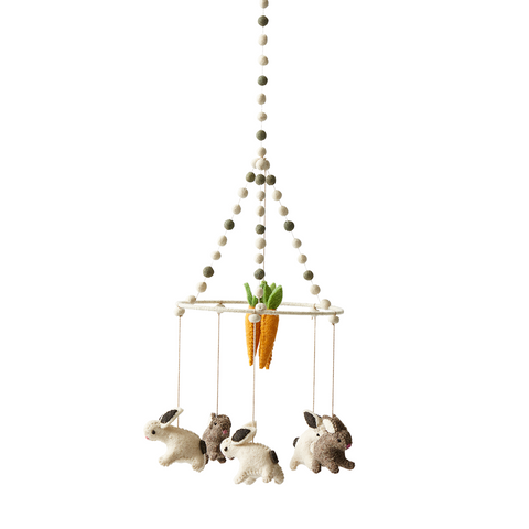 Tiny Bunny Cot Mobile from Petit Pehr