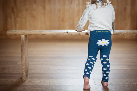 Daisy Leggings on a girl