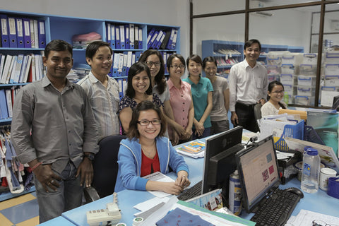 Staff at Albetta in Vietnam