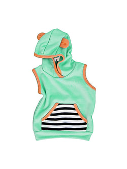 Cool Aqua Beach Baby Hoodies | Beach Baby Clothes | Front
