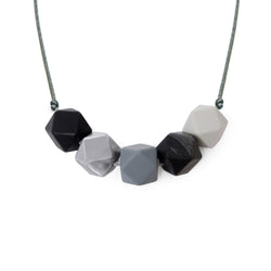 Luna metallic Lara and ollie teething necklace from crab and the fox