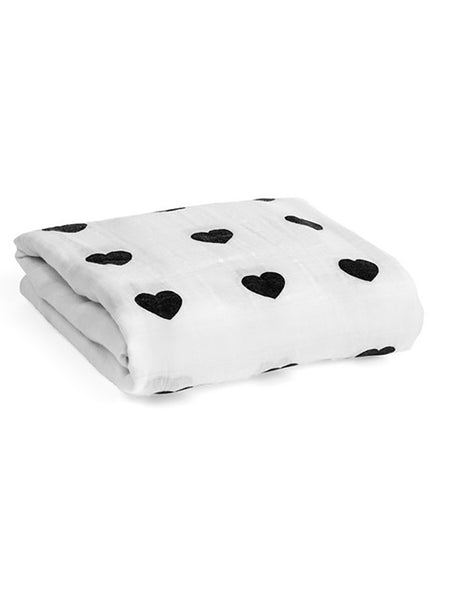 Heart Swaddle | Large Muslin Squares | Baby Muslins | Front