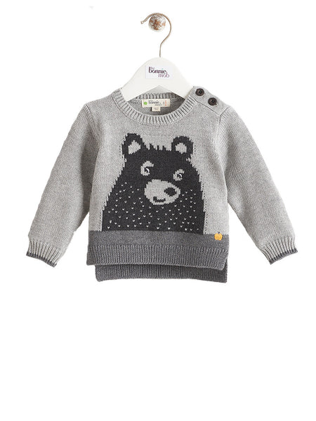 GRIZZLY Bear Bonnie Mob Baby Intarsia Jumper
