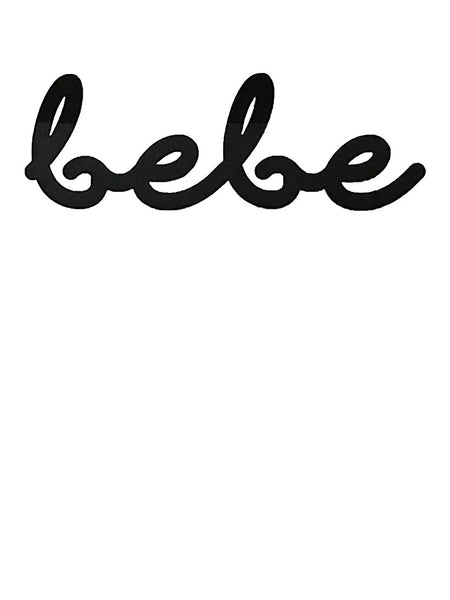 Lala Loves Decor Bebe Acrylic Sign - Black