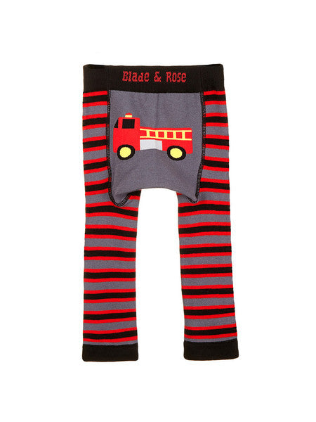 fire engine baby leggings back