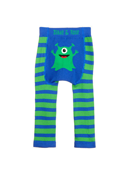 monster baby leggings back