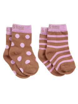 blade & rose owl lilac chocolate striped socks