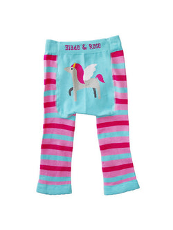 pink unicorn baby leggings back