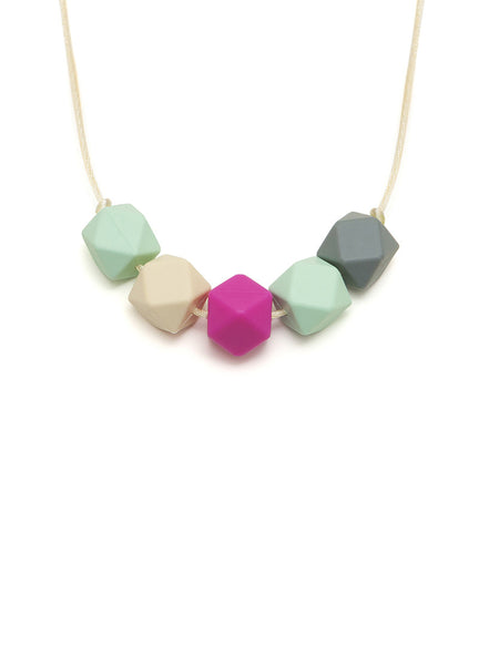 Clara silicone teething necklace from Lara & Ollie