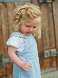dotty dungarees denim dress - baby dungarees - baby girl