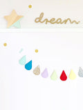 Glitter Dream sign hanging on wall by Lala loves Decor