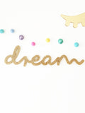 Handmade glitter Dream sign by Lala loves Decor