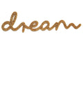 Dream gold glitter sign by Lala loves decor
