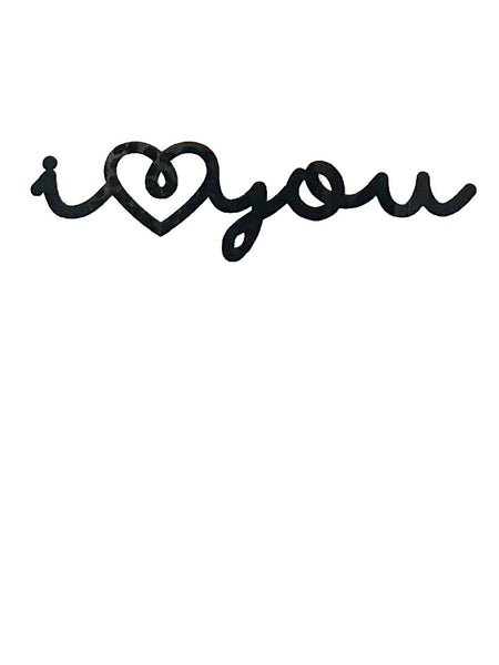 Lala Loves Decor I Love You Acrylic Sign - Black