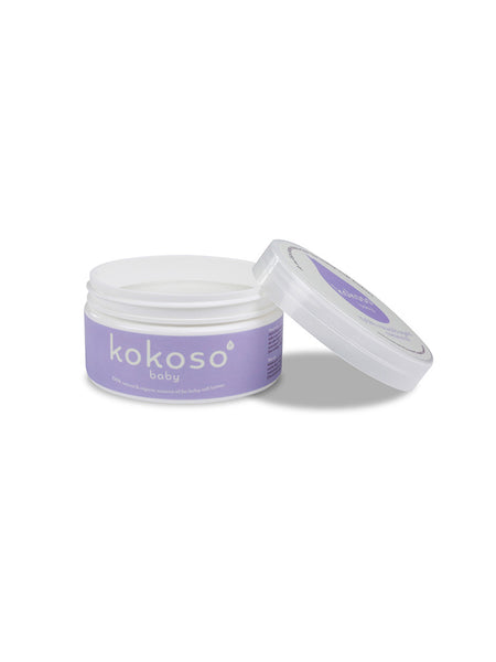 Kokoso organic coconut oil for babies lid off