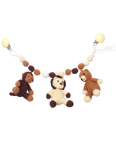 Pram Toys - Mr. Bear, Mr. Lion and Mr. Monkey from NatureZOO at Crab and The Fox