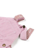 Pink stripe dungarees dress baby dungarees button loop