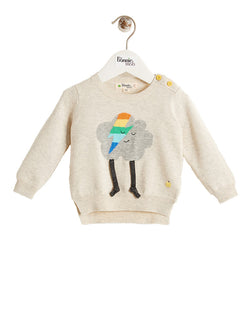 ZAPPA Unisex Baby Flash Cloud Sweater - Putty