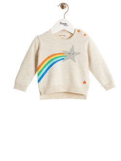 SONIC Organic Cotton Unisex Baby Star Sweater - Rainbow