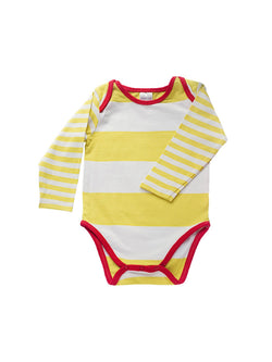 Yellow Striped Bodysuit