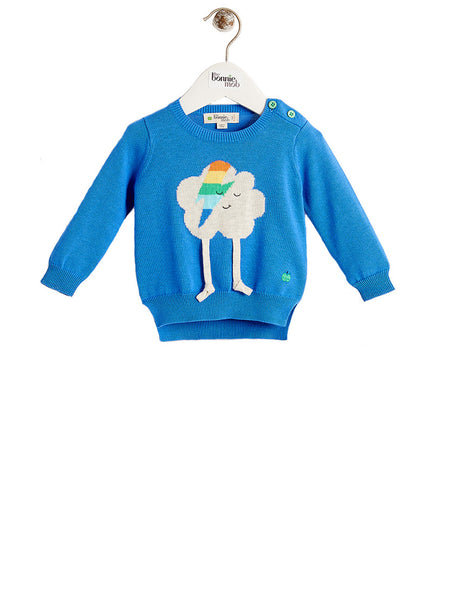 ZAPPA Unisex Baby Flash Cloud Sweater - Blue