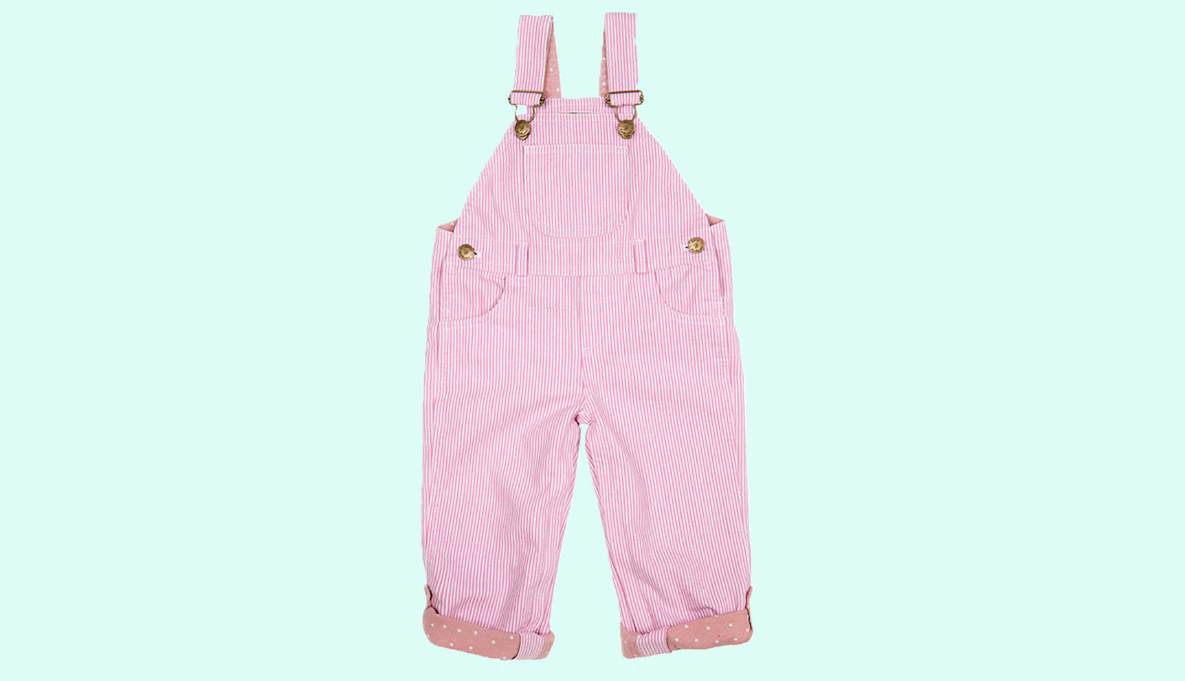 Pale Pink baby dungarees