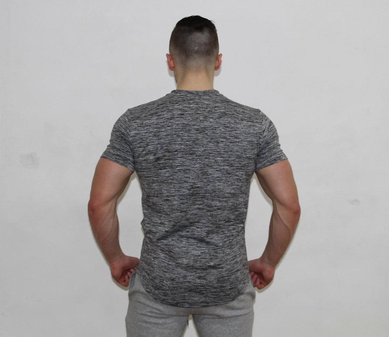GFLEX Muscle Fit Curved Hem Tee