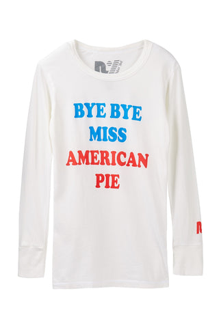 "Rebel Yell ""Bye Bye Miss American Pie"" Riley Long Sleeve"