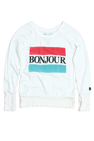 """Bonjour"" Campbell Sweater"