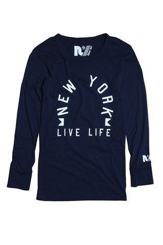 """NY Live Life"" Riley Long Sleeve"