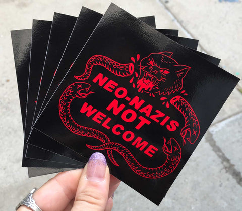 Not Welcome Stickers - Set of 5