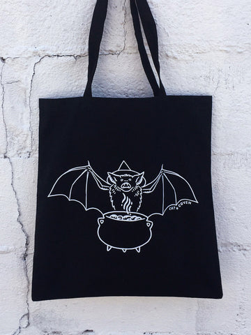 SALE // Bat Witch - Tote Bag