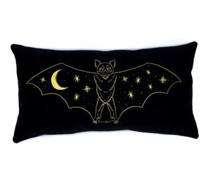 SALE // Creature of the Night Pillow - Gold