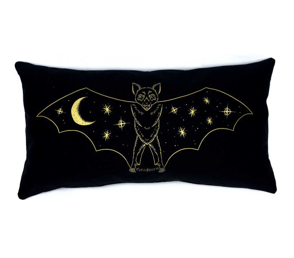 Creature of the Night Pillow - Gold