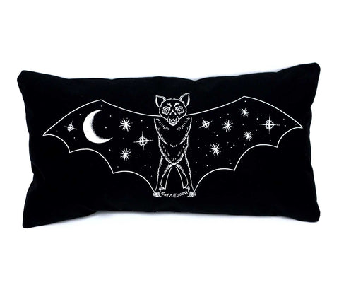Creature of the Night Pillow - White