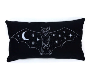 SALE // Creature of the Night Pillow - Silver