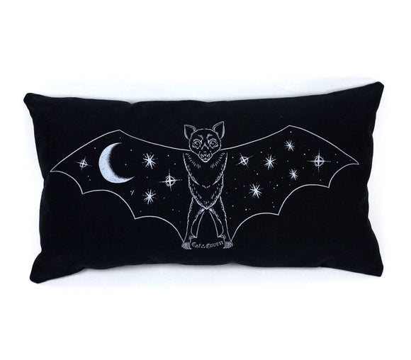 Creature of the Night Pillow - Silver