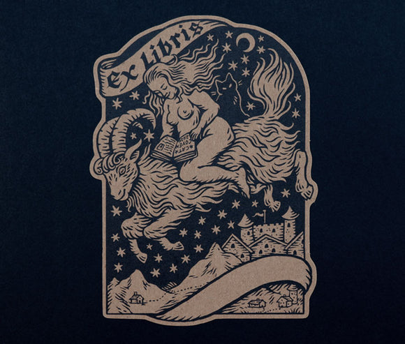 Nighttime Reading - Bookplate