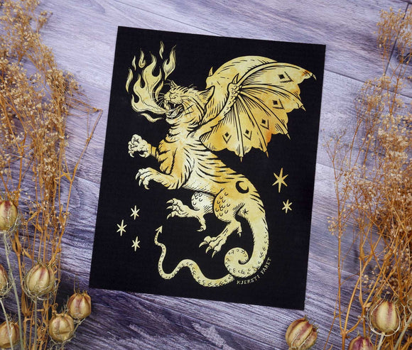 Cat Dragon - Fine Art Print