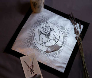 Cat Goddess (Freyja Inspired) - Tarot/Altar Cloth