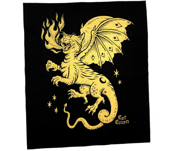Cat Dragon - Back Patch