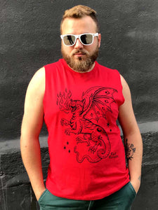 LIMITED 67 - Cat Dragon - Classic Muscle Tank - MEDIUM